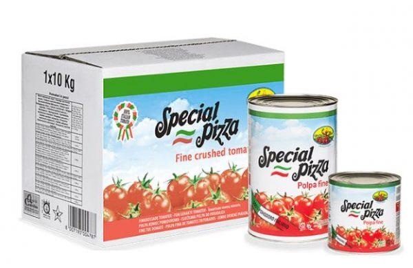Pulpa de tomate envasada