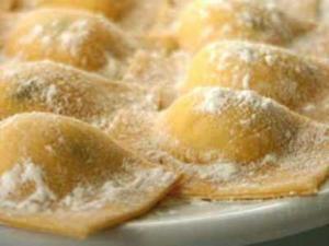 Muestra de Pastas Ravioli, y Sorrentino de Verona alimentos